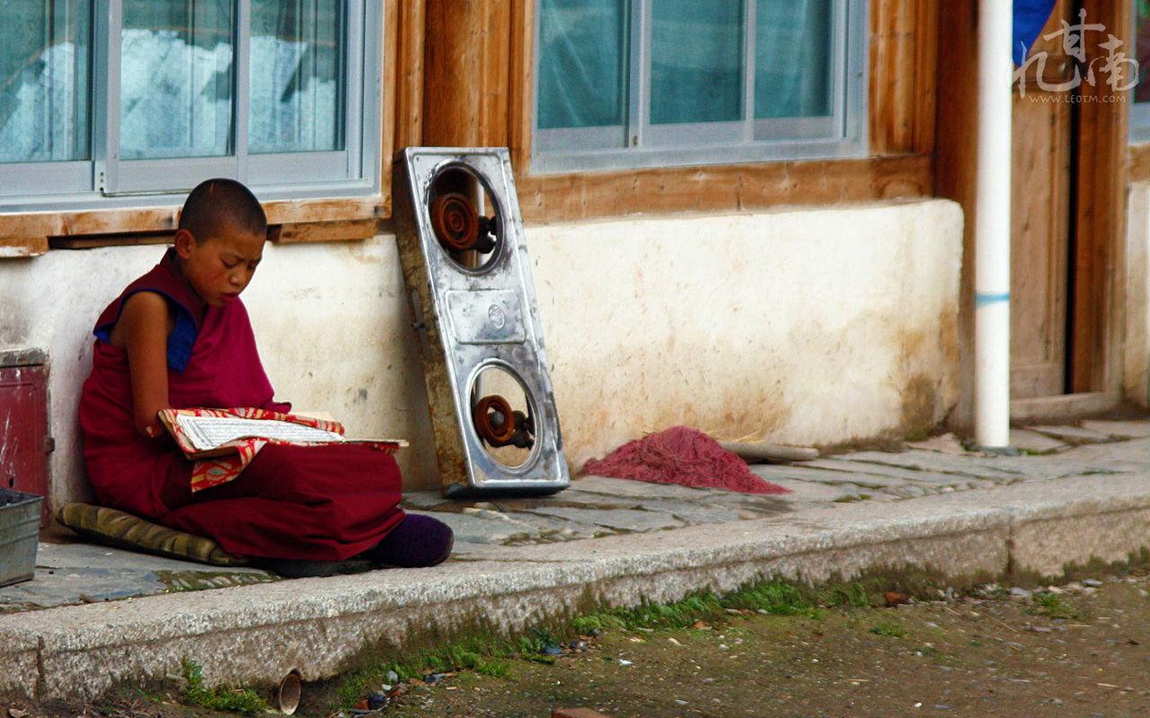 诵经的小喇嘛