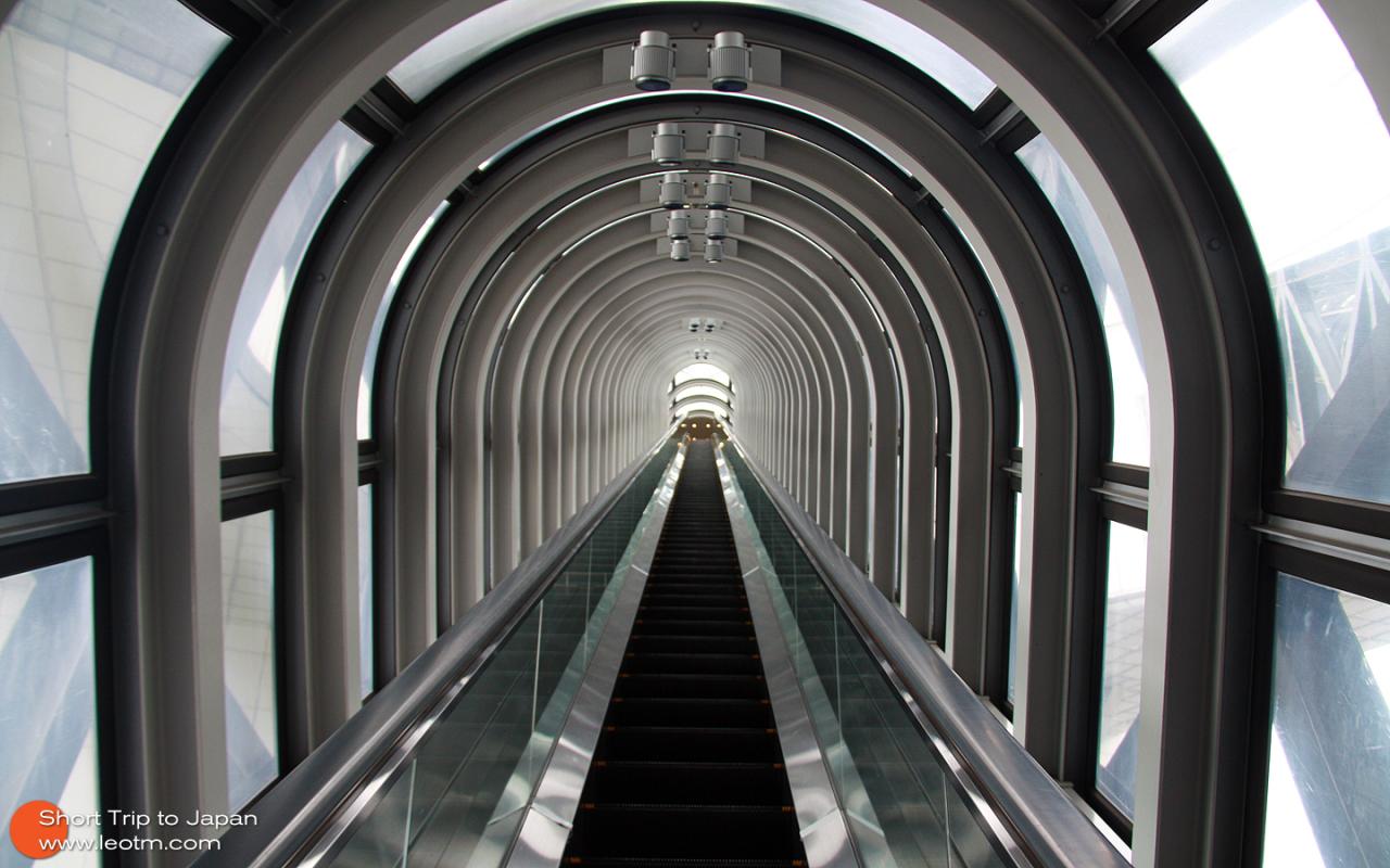 来到空中庭院。登顶都一截手扶梯,很有时空隧道都感觉。