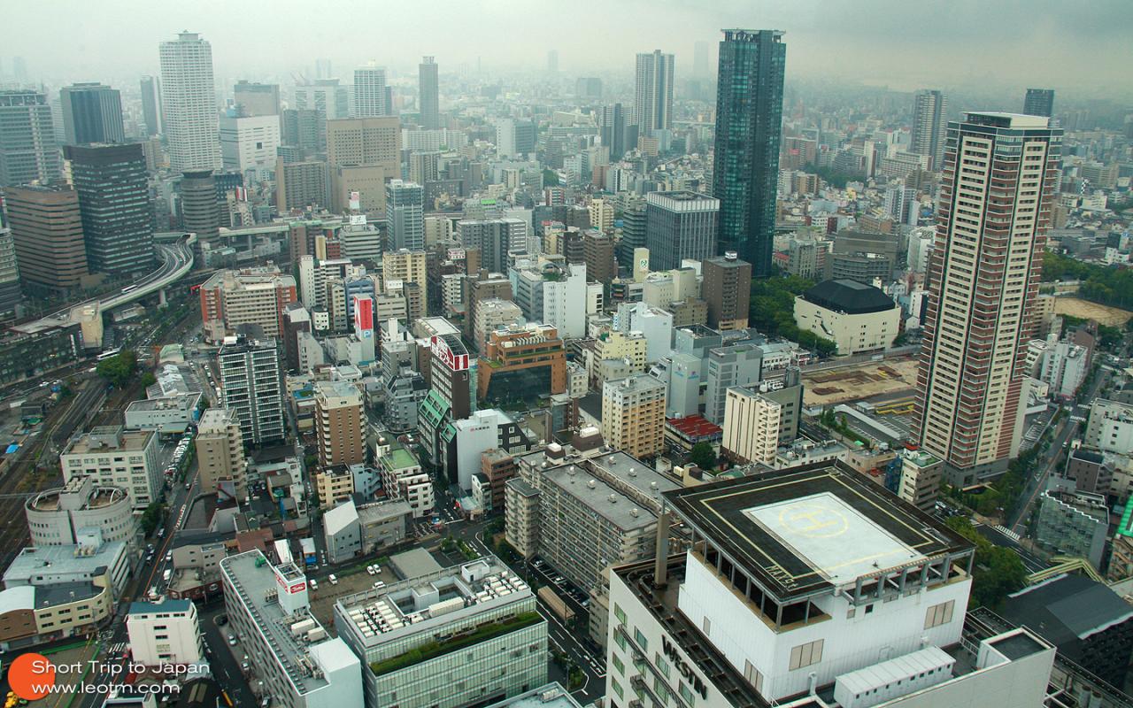 眺望大阪市