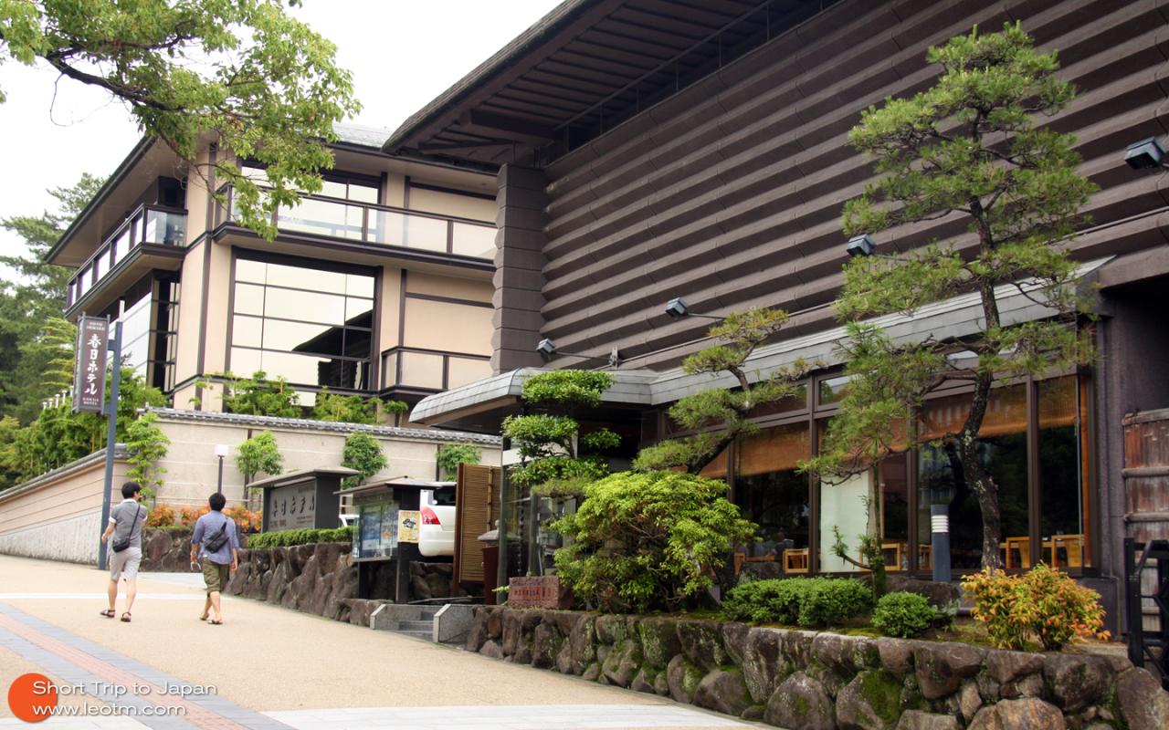 一家酒店都外观,日本商人很擅长把小环境做都无比精致漂亮