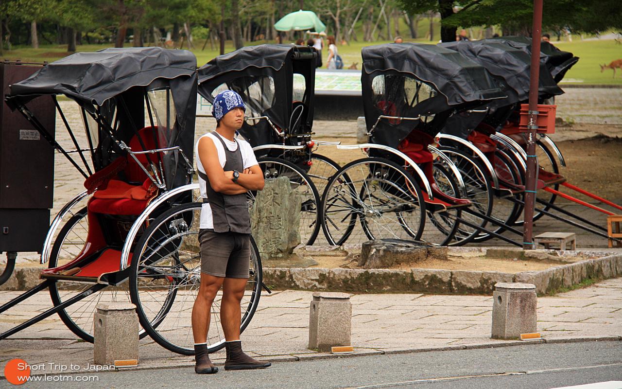 人力车夫,这个可能是当地特色吧,好像只有奈良多,京都也有一点点。