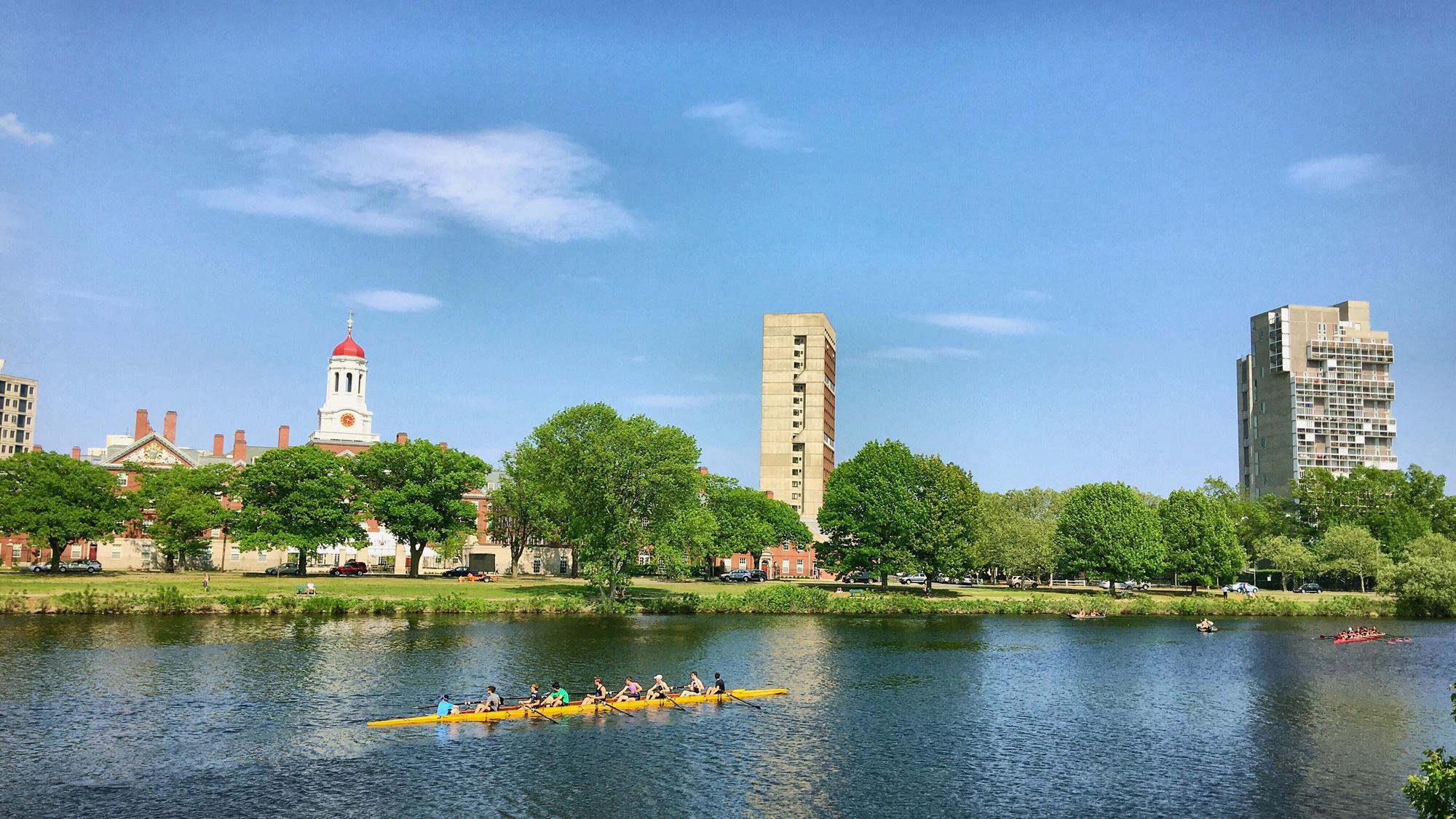 查尔斯河,以及哈佛校园