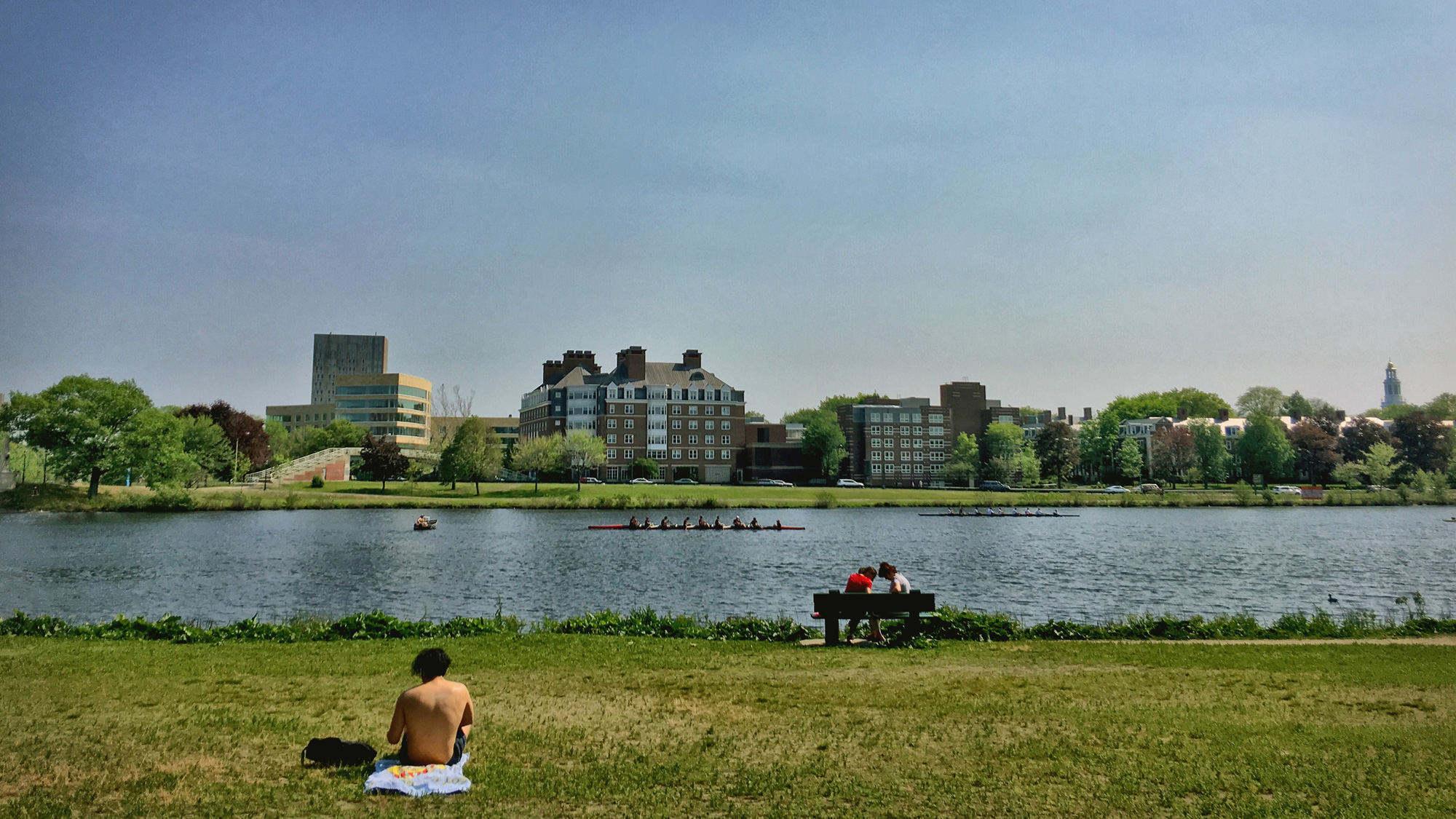 查尔斯河以及哈佛校园